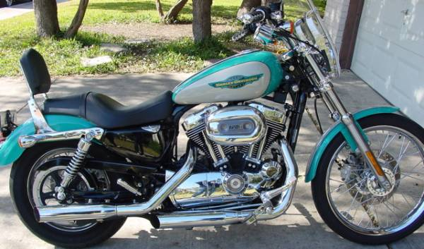 New '05 Teal/White Retro Paint Scheme : V-Twin Forum: Harley ...