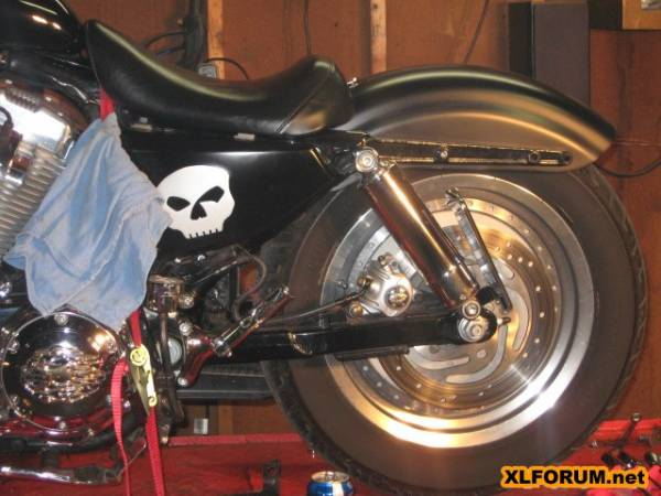 How to chop the rear fender on a solid mount evo page 2 for Sportster solid motor mounts