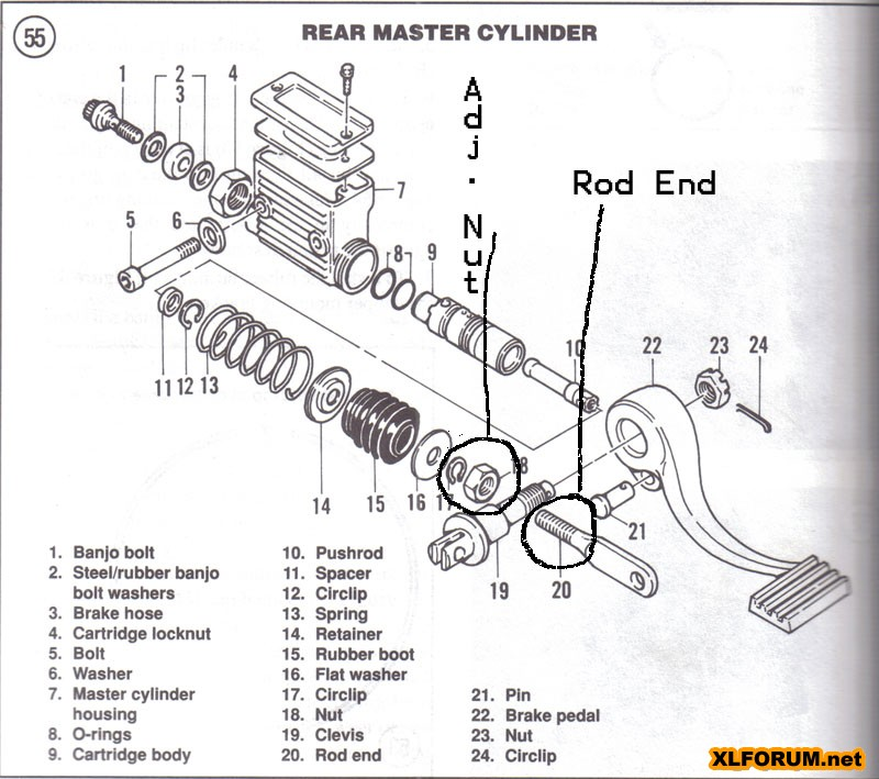 31 Harley Rear Master Cylinder Diagram