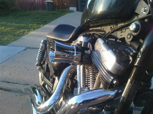 Volocity Stacks Chopper Air Cleaner : New velocity stack w air filter the sportster and buell