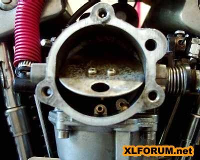Ironhead '81 Keihin carb rebuild - broken choke spring - The